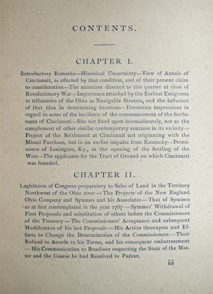 Cincinnati's Beginnings. Missing Chapters in the Early History of the City And the Miami Purchase: Chiefly from Hitherto Unpublished Documents.