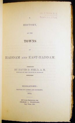 A History, of the Towns of Haddam and East-Haddam