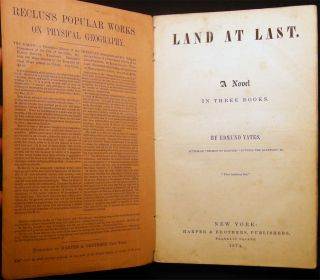 Land at Last. A Novel in Three Books. Library of Select Novels No. 273
