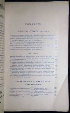The American Journal of the Medical Sciences. Published Monthly. Edited By I. Minis Hays Vol. XCV., No. 6 June, 1888 No. 194