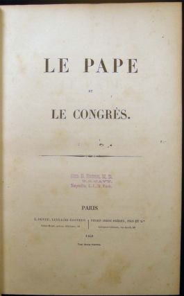 Collection of 19 Pamphlets by Various Authors, Bound in One Volume; Concerning the Papacy; Separation of Church & State; Political Liberties; Education and Caribbean History.