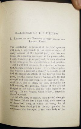 The Irish Question I.- History of an Idea II.- Lessons of the Election