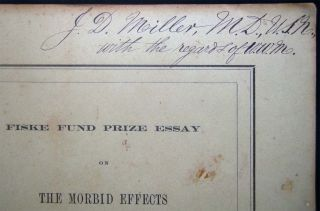 Fiske Fund Prize Essay on the Morbid Effects of the Retention in the Blood of the Elements of the Urinary Secretion