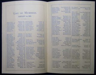 1874 - 1887 Collection of Addresses and Chapter Membership Lists of the Ancient Chapter, No. 1, R.A.M. New York City