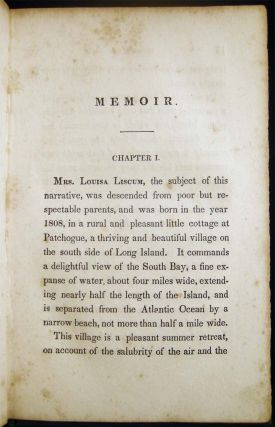 Fact Not Fiction: Or, the Remarkable History of Mrs. Louisa Liscum. With an Appendix