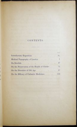 Practical Observations on the Preservation of Health, and the Prevention of Diseases; Comprising the Author's Experience on the Disorders of Childhood and Old Age, on Scrofula, and on the Efficacy of Cathartic Medicines
