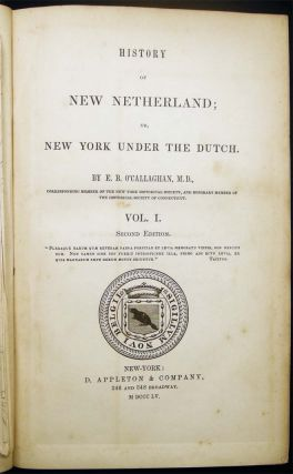 History of New Netherland; or, New York Under the Dutch