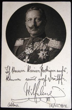 2 Early Kaiser Wilhelm Portrait Cards Real Photo