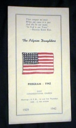 The Pilgrim Daughters Program - 1942 First Congregational Church. The Pilgrim daughters