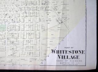 Original Map of Part of Whitestone Village Southern Part Long Island, New York.