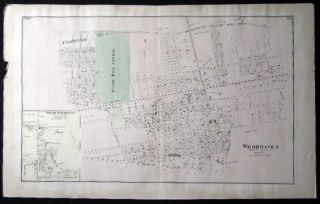 Original Map of Woodhaven with Inset Map of South Woodhaven & Maps of Springfield Store Willow...